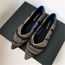 2019 New Spring Women Flats Shoes Leopard Print Women Shoes Casual Single Shoes Ballerina Women Shallow Mouth Shoes