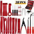 38 pçs ferramenta de remoção guarnição do carro painel pry ferramenta de reparo kit remoção de rádio alicate clipe automático