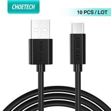 CHOETECH 10 pièces Lot Micro USB câble 5V 2.4A pour samsung 3.9ft 1.2m chargeur rapide câble de téléphone pour xiaomi nokia ASUS oppo
