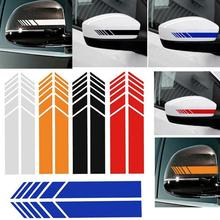 2x Car Side Mirrior Vinyl Graphic Sticker Car Rear View Side Mirror Body Stripe Vinyl Sticker Decal DIY Car Body Decals cheap Rearview Mirror Other 17inch Stickers Not Packaged Car Stickers