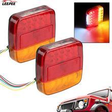 1 paar Zahl Platte Licht Anhänger Lkw Caravan Rücklicht 26 LEDs Rücklicht Hinten Umge Lampe Blinker anzeige
