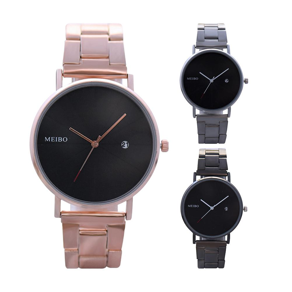 Unisex Fashion No Numbers Scale Round Dial Calendar Quartz Wrist Watch Couple Watch Lovers Watch Male Female Пара смотреть 커플 시계