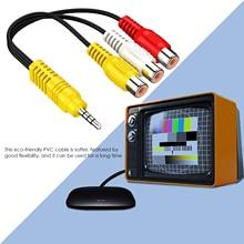 3,5 мм до 3 RCA кабель видео компоненты AV адаптер кабель для TCL TV 3,5 мм к RCA красный, белый и желтый женский видеокабель ТВ set