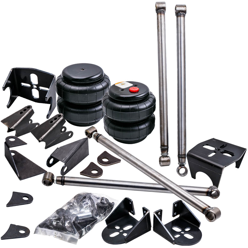 4 Link Rear Suspension Kit With Brackets 2500 Air Suspension Bag, Steel Mounts