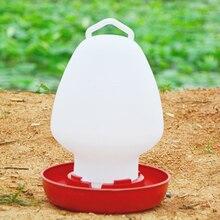 3L Bird Water Feeder Kettle Shape Plastic Chicken Water Drinking Cup Bird Quail Poultry Drink Feeding Implement Farm