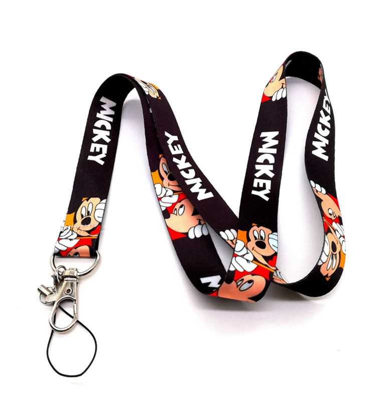 Wholesale 10pcs/20pcs/50pcs Cartoon Mickey Straps Lanyard ID Badge Holders Mobile Neck Keychains For Party Gift XL15 image