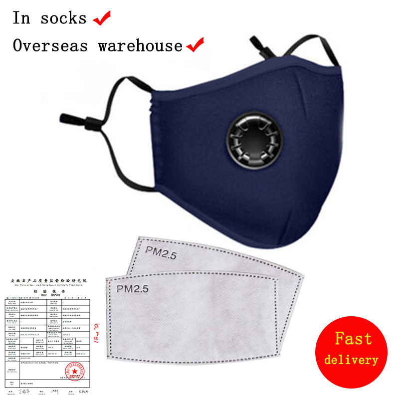 Washable Cotton Mouth Face Mask Reusable Cover Respirator Anti-Dust Mask With 2  PM2.5 Filters Protective Mask PK N95 Mask Ffp3