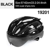 Black 1 Grey Lens-INBIKE Cycling Helmet with Goggles Ultralight MTB Bike Helmet Men Women Mountain Road casco Sport Specialiced Bicycle Helmets