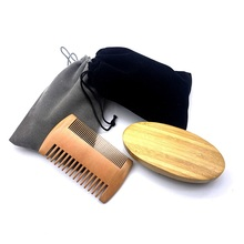 Natural Boar Bristle Beard Brush For Men Bamboo Face Massage That Works Wonders To Comb Beards and Mustache Drop shipping