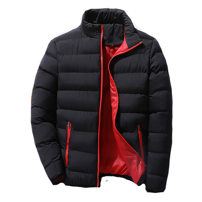 Winter Thickening Motion Cotton-padded Jacket Clothes Male Stand Lead Hat Down Causal Zipper Warm Outwear Windbreaker
