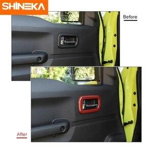Image 4 - SHINEKA molduras interiores para Suzuki Jimny JB74, manija de puerta Interior de coche, accesorios de decoración para Suzuki Jimny 2019 +