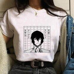 Camiseta femenina, Аниме футболки, бангоу, бродячие собаки, женские футболки с коротким рукавом и круглым вырезом, женские топы