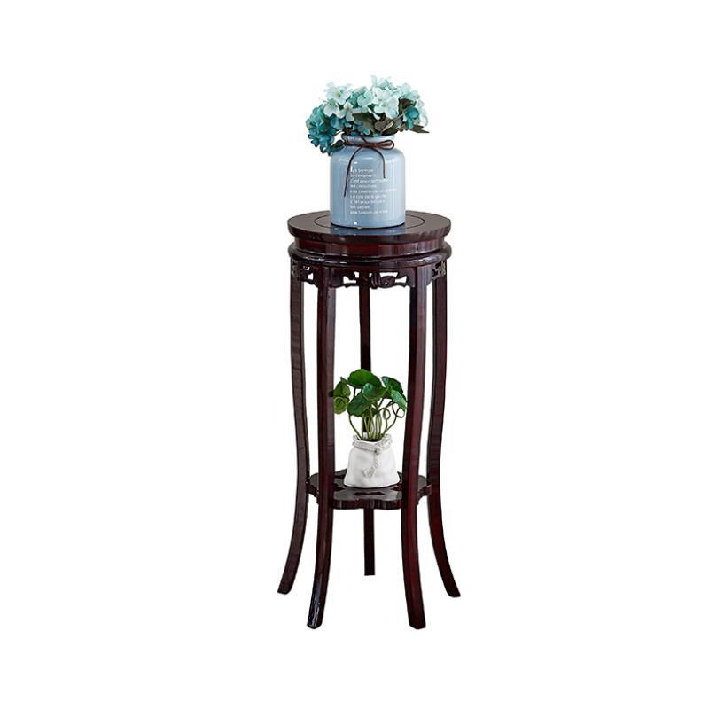 Solid Wood Flower Stand Chinese Wooden Household Living Room Storage Bonsai Pots Frame Single Flower Shelf Indoor