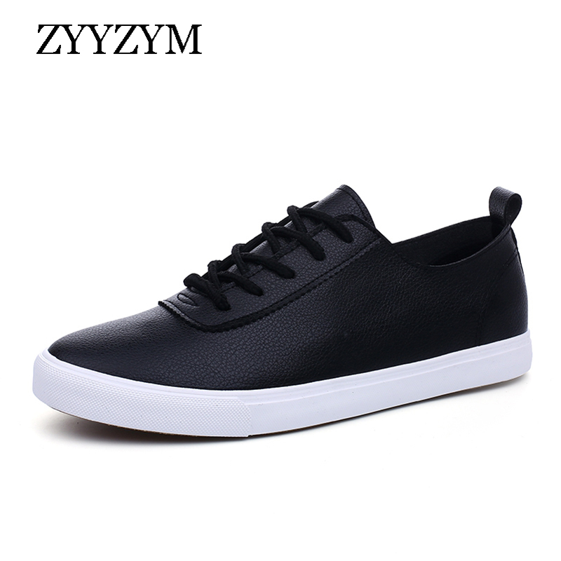 ZYYZYM Fashion Sneakers Women Shoes Vulcanize PU Leather Light Ventilation Lovers Shoes For Woman