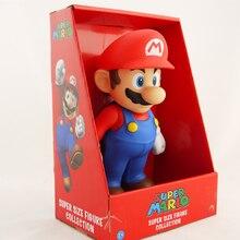 1 Pcs Super Mario Bros Mario Luigi PVC Action Figure Collection Toy Doll 9 23cm New in Box Enema Mary Home decoration game prettyangel genuine bandai tamashii nations s h figuarts super mario brothers mario action figure