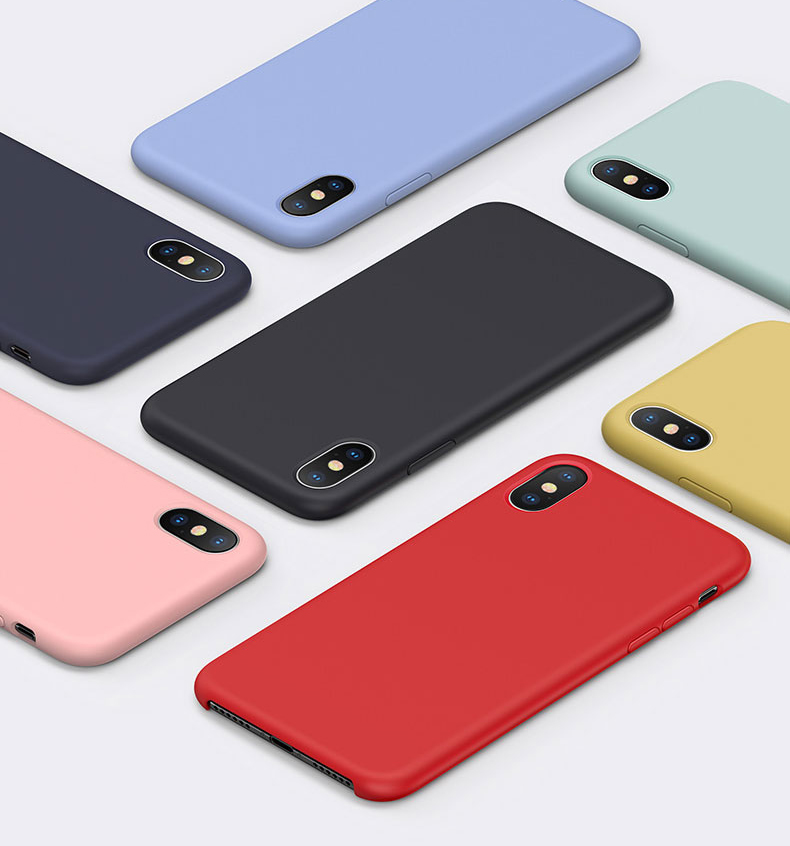 Luxury <font><b>Original</b></font> Official <font><b>Silicone</b></font> <font><b>Case</b></font> For <font><b>iPhone</b></font> 6s <font><b>7</b></font> 8 8Plus Liquid <font><b>Case</b></font> For <font><b>iPhone</b></font> 11 X XS Max XR 11pro MAX Shockproof Cover image