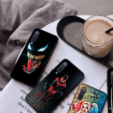 Phone Case For Xiaomi Mi9 Fashion Cute Spiderman Black TPU Silicone Mi9SE Bumper Shell Cases