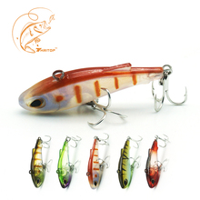 Thritop VIB Fishing Lure Artificial Bait Wobblers 4cm 3.8g 5 Colors TP071 Strong Hooks 3D Eyes Good Fishing Tackle Accessories good bait