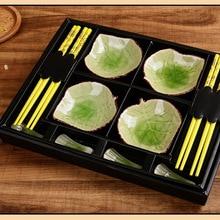 Столовая посуда в японском стиле комплект chopticks Керамика суши сашими соевым соусом блюдо в подарочной коробке(12 шт./компл