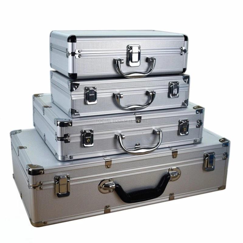 Caja de Herramientas de aleación de aluminio para vehículos al aire libre, equipo de seguridad portátil, caja de instrumentos, Maleta, equipo de Seguridad al aire libre