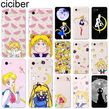 ciciber Phone Case for Google Pixel 4 3 XL Soft Silicone Cover for Google Pixel 2 3a XL Funda Sailor Moon Coque Capa Capinha google pixel page 4