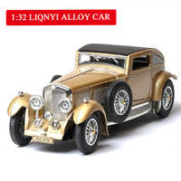 Modelo de coche de juguete con luz y sonido de 8L para niño, juguete con parpadeante luz y sonido, nivel de colección de coches de aleación Bentley Toys1:32