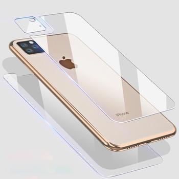 9D avant + arrière arrière + lentille Film de caméra pour iPhone 11 Pro Max 11 2019 verre trempé protecteur de Film d'écran complet pour iPhone 11