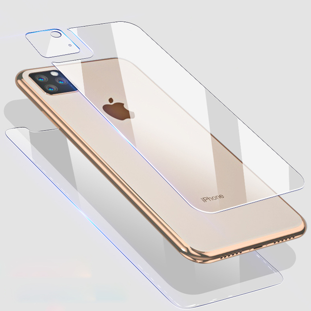 9D Front+Rear Back+Lens Camera Film For iPhone 11 Pro Max 11 2019 Temper Glass Full Body Screen Film Protector for iPhone 11