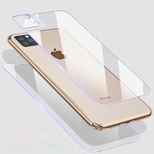 9D קדמי + אחורי בחזרה + עדשת מצלמה סרט עבור iPhone 11 פרו מקסימום 11 2019 מזג זכוכית מלא גוף מסך סרט מגן עבור iPhone 11