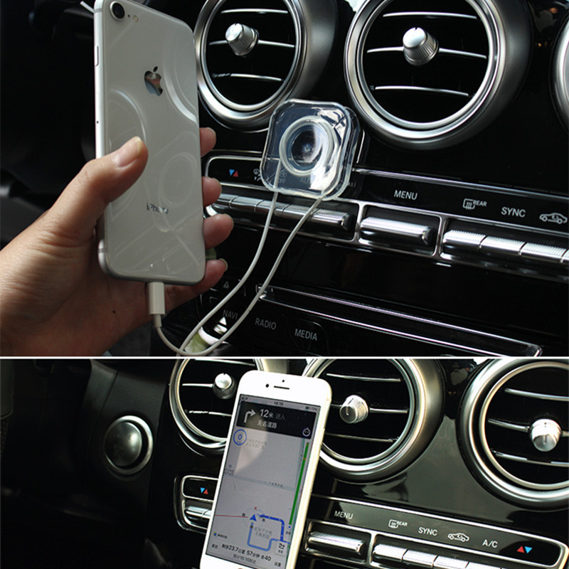 Premium Nano Gel Pad Traceless Magic Stickers,Washable Multi-Functional Universal Sticky Car Phone Holder,Application for Car,Home,Office Storage of Various Small Device and Items Circular X 2PIC