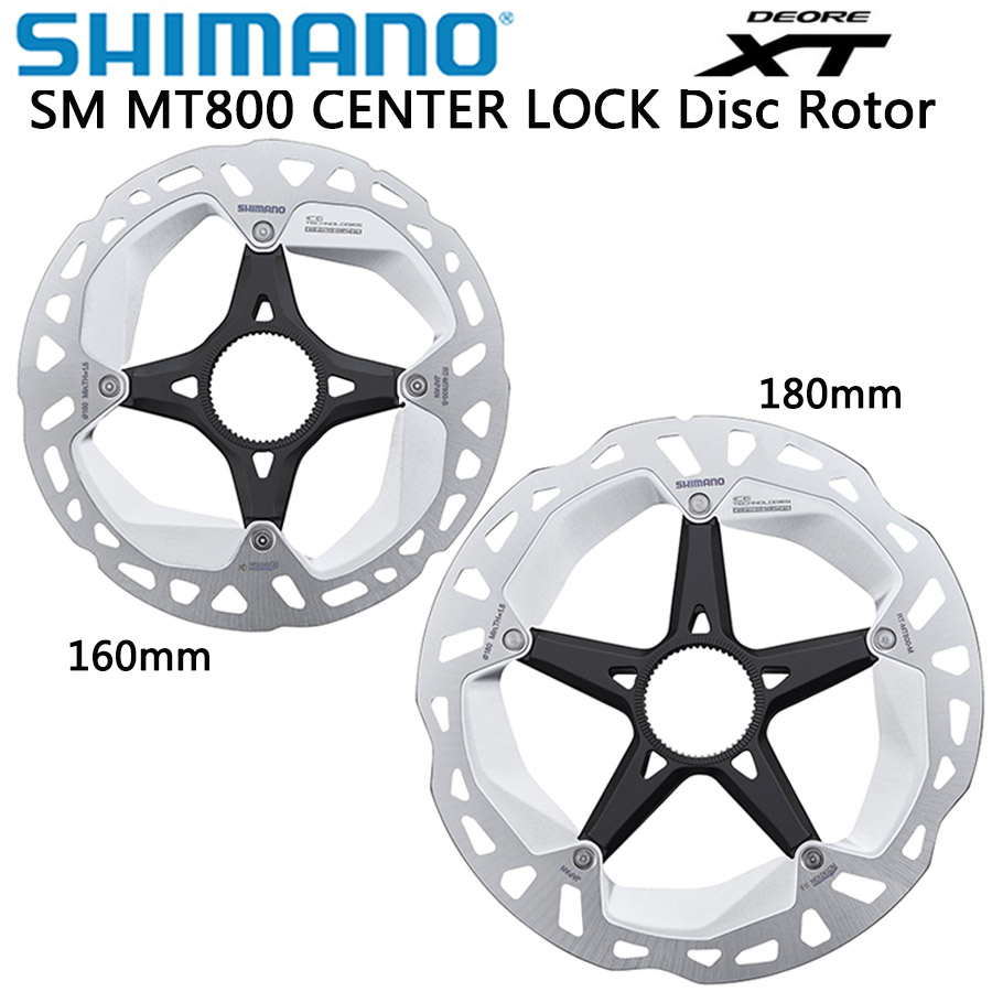 <font><b>Shimano</b></font> DEORE XT SM MT800 ice Point Technology Brake Disc CENTER LOCK Disc <font><b>Rotor</b></font> Mountain Bikes Disc MT800 160MM <font><b>180MM</b></font> image