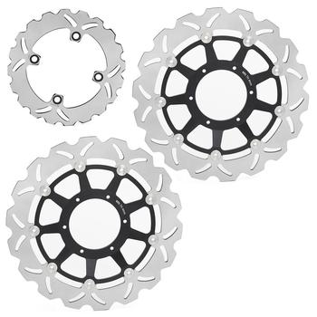 BIKINGBOY Front Rear Brake Disks Discs Rotors For Honda CBR 1000 RR Fireblade 2006 2007 CBR1000RR 06 07 VTR 1000 SP1 SP2 00-07