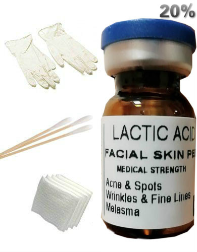 LACTIC Acid Skin Peel For: Acne,Wrinkles,Melasma,Age,Spots,20% Free Ship