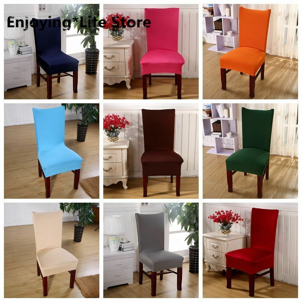 Dining Room Wedding Banquet Chair Cover Seat Cover Stretch Spandex Party Decor