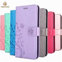 Mariposa en relieve de cuero Flip para Samsung Galaxy A42 A52 A72 A20E A30 A40 A50 A11 A21 A31 A41 A51 A71 cartera cubierta
