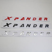 For Mitsubishi Xpander Emblem Plastic LOGO Word Xpander Car Trunk Custom 3D Letter Writing Badge Emblem Sticker NamePlate Decal(China)