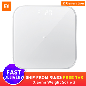 Original Xiaomi Smart Scale 2 Mi Smart Health Weight Scale Bluetooth 5.0 Digital Scale Support Android 4.3 iOS 9 Mifit APP Scale