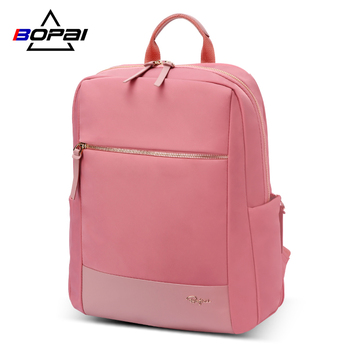 BOPAI, nueva mochila para ordenador portátil, para mujer, de 14 pulgadas, impermeable, rosa, a la moda, mochila de viaje para mujer, mochilas escolares, bolsas para chicas adolescentes