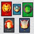 Настенная картина с супергероями Марвел, Мстители, Железный человек, Капитан Америка, ретро, абстрактная картина, домашний декор, картина, к...