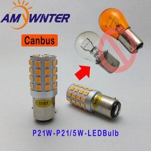 Image 2 - Amywnter 12V 1157 BAY15D P21/5W 1156 BA15S P21W Canbus Led PY21W 1056 BAU15S Richtingaanwijzer Running lamp Rood/Geel/Wit