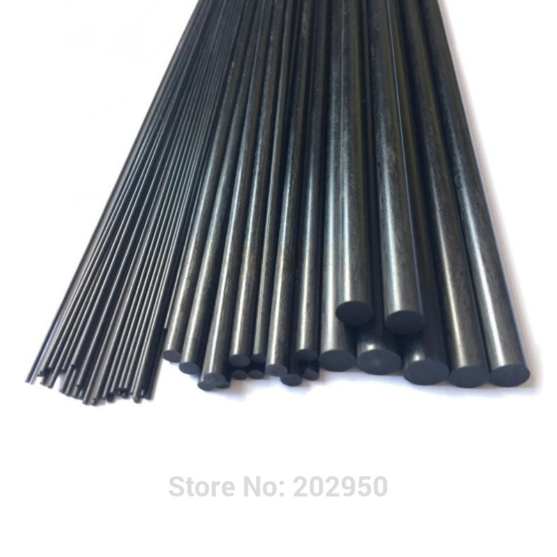 4pcs 8pcs Carbon Fiber Rods For RC Airplane Matte Pole 2mm 1mm 1.5mm 2.5mm 3mm 4mm 5mm 6mm 7mm 8mm 10mm 11mm 12mm Diameter 500mm(China)