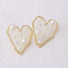 NeeFuWoFu Heart Earring star earrings natural pearl Fashion Ear Drops Factory direct sales flash jewelry