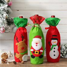 Christmas Red Wine Bottle Cover Bags Home Decoration Storage New Years Products Gift Santa Claus E