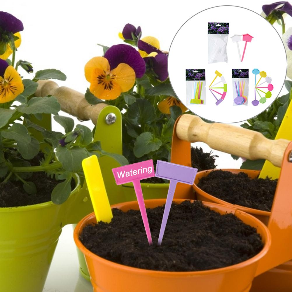 10PCS Plastic Garden Tags Ornaments Plant Flower Label Nursery Thick Tag Markers For Plants Garden Decoration