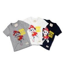 Международная торговля, футболка с короткими рукавами для мальчиков г., летний стиль, детская одежда с рисунком собаки, Детская толстовка с рукавами