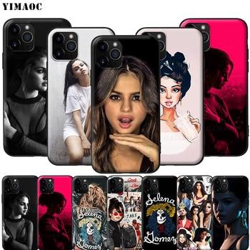 Силиконовый мягкий чехол YIMAOC Selena Gomez для iPhone 11 Pro XS Max XR X 8 7 6 6S Plus 5 5S SE
