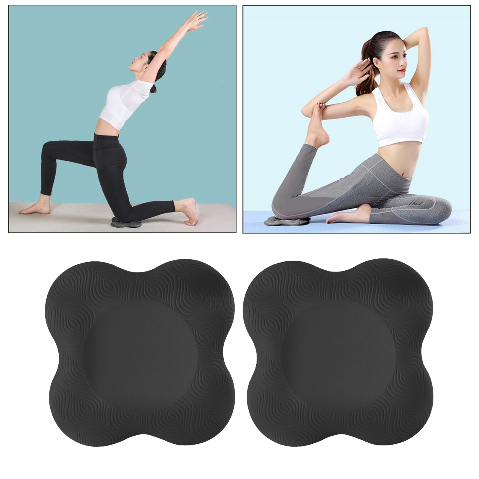 2pcs Non-Slip Nonslip Yoga Elbow Mat Knee Pad Cushion Thick for Exercise Fitness Workout Plank Pilates Travel Gym Floor Square