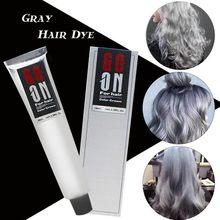 100ml cinza tintura de cabelo creme natureza permanente luz cinza prata unissex tintura de cabelo cor creme estilo punk ferramenta de beleza do cabelo