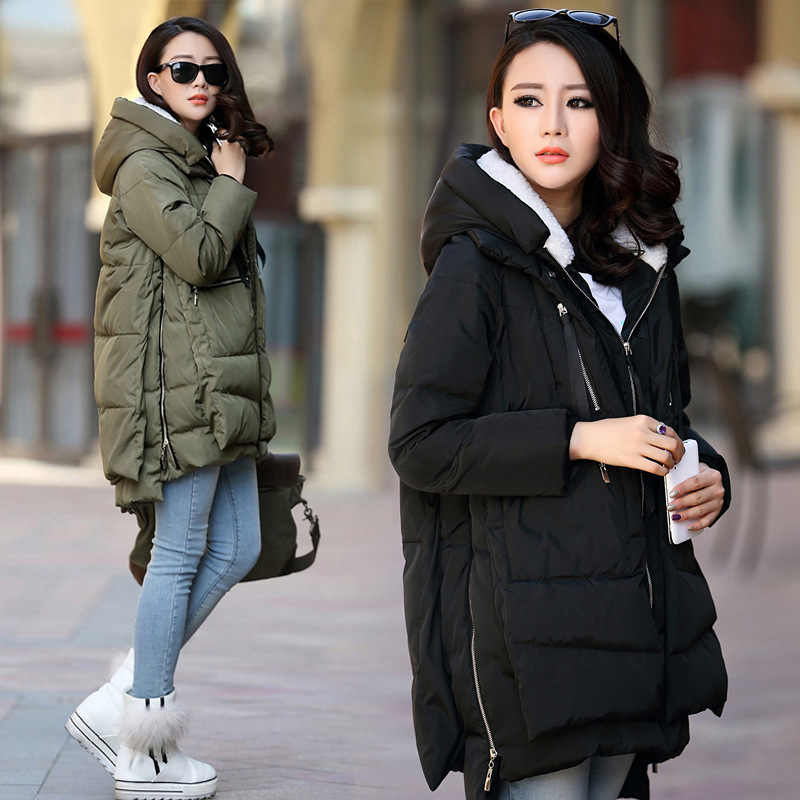 Maternity Winter Coat Long Hooded Thicken Down Jacket Casual Coat for Pregnant Women Pregnancy Clothes Outerwear Plus Size S-5XL