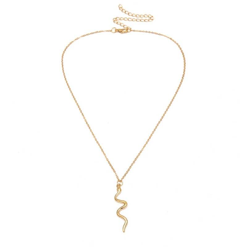 ファッションパンクスネークペンダントネックレス女性シンプルなゴールドのチェーンチョーカーネックレスジュエリーステートメントネックレスパーソナライズチョーカーギフト